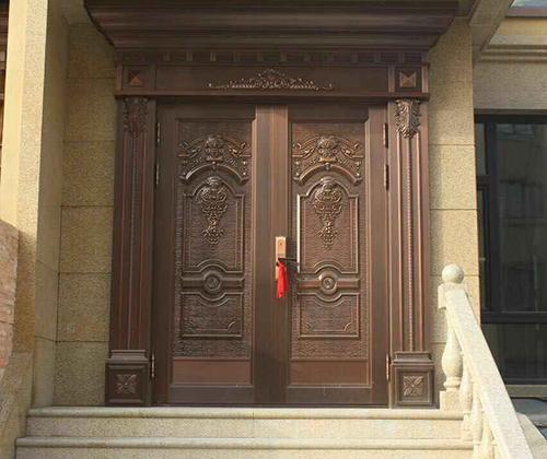 辽阳客户家铜门