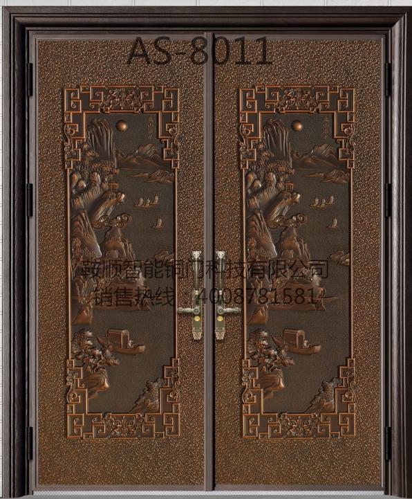 铸铝门AS-8011