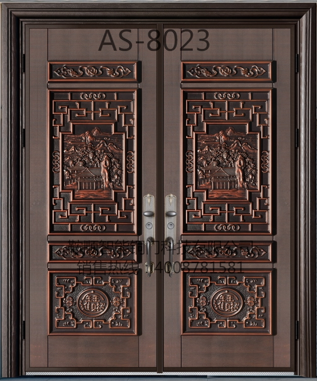 铸铝门AS-8023