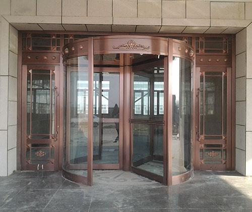 自动旋转铜门